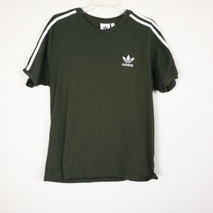 Adidas three strip tshirt
